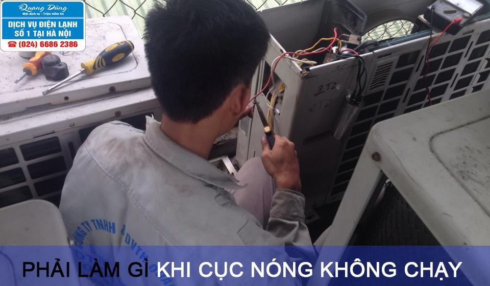 cuc nong may lanh khong chay