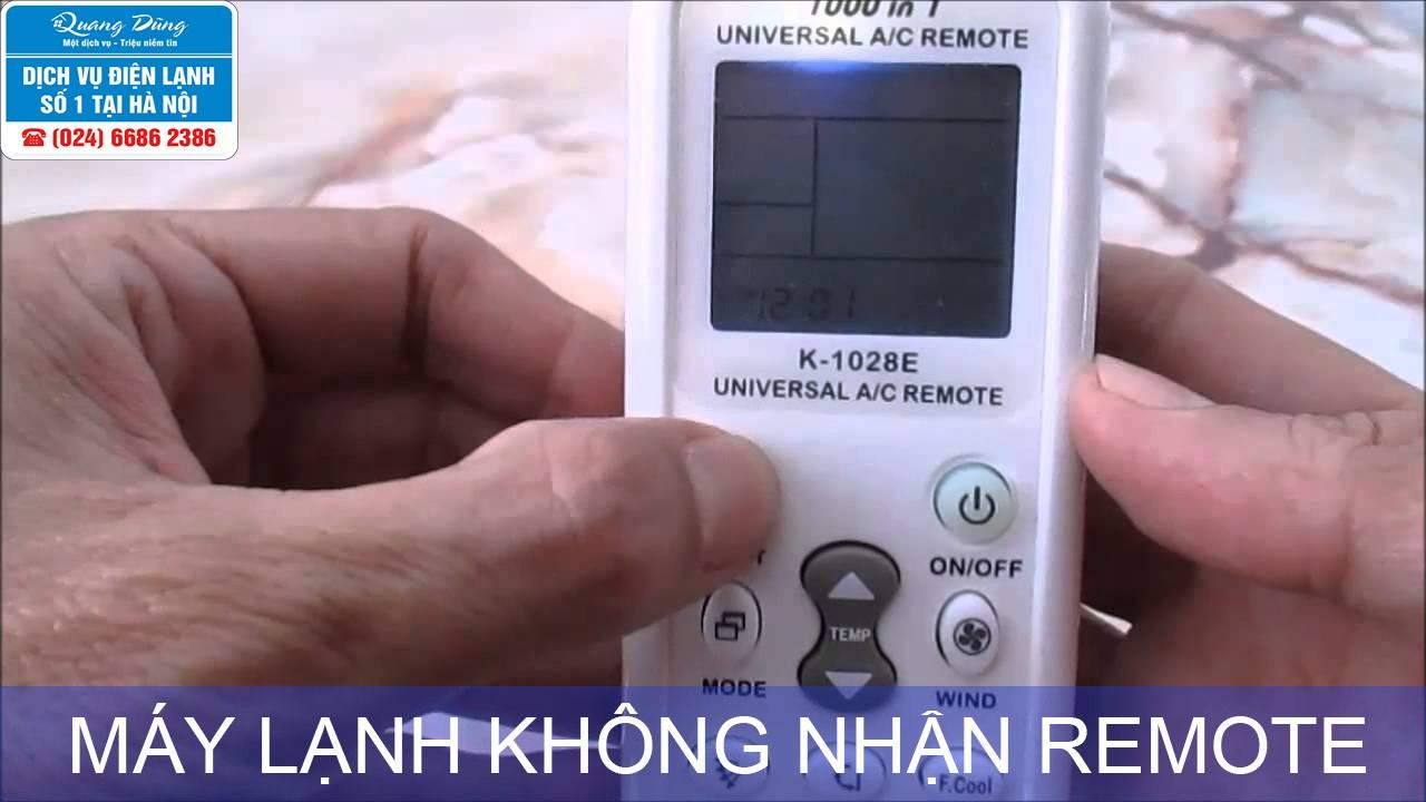 may lanh khong nhan remote