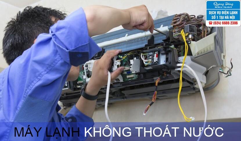 may lanh khong thoat nuoc