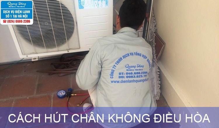 cach hut chan khong dieu hoa