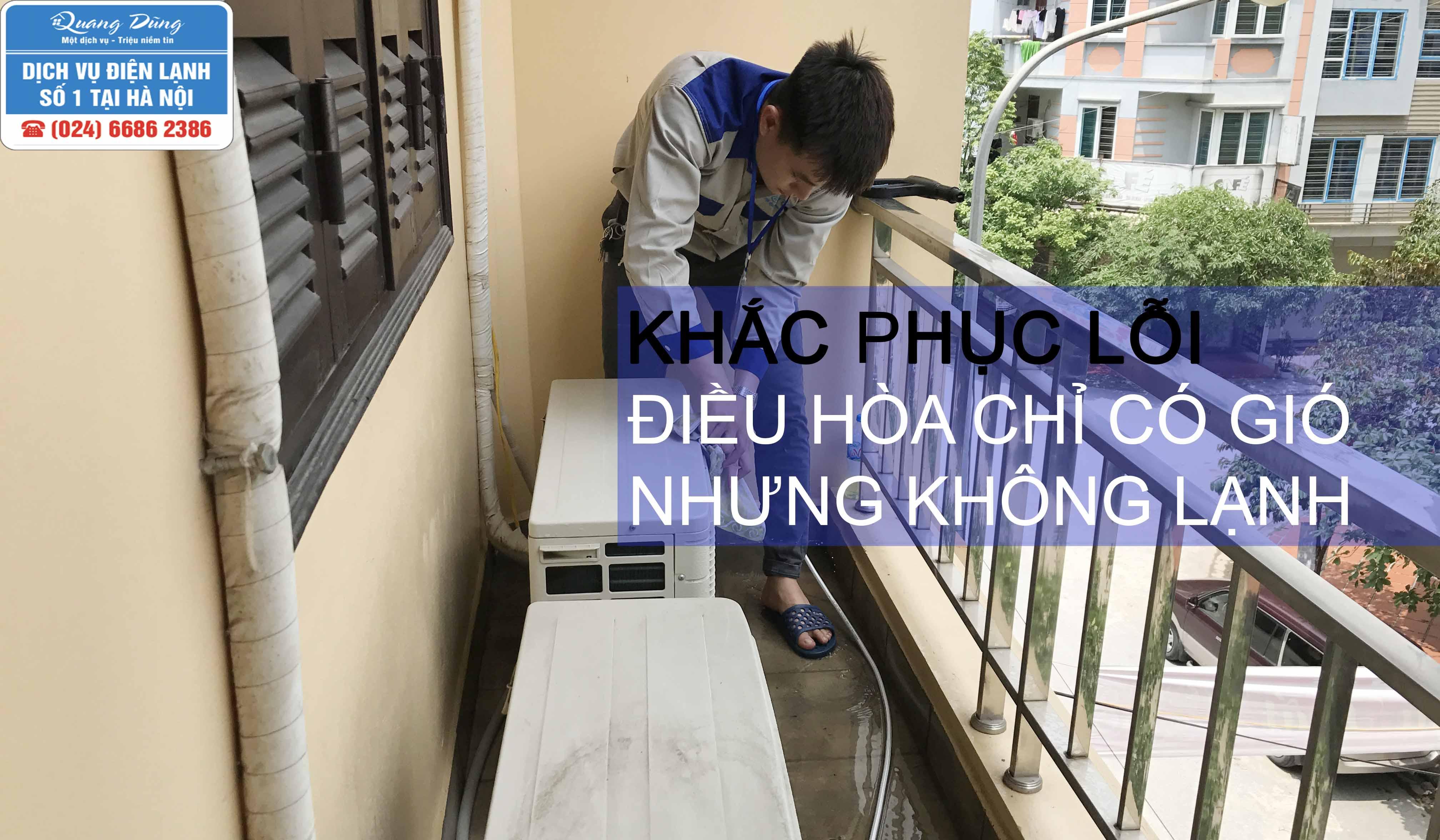 dieu hoa chi co gio nhung khong lanh