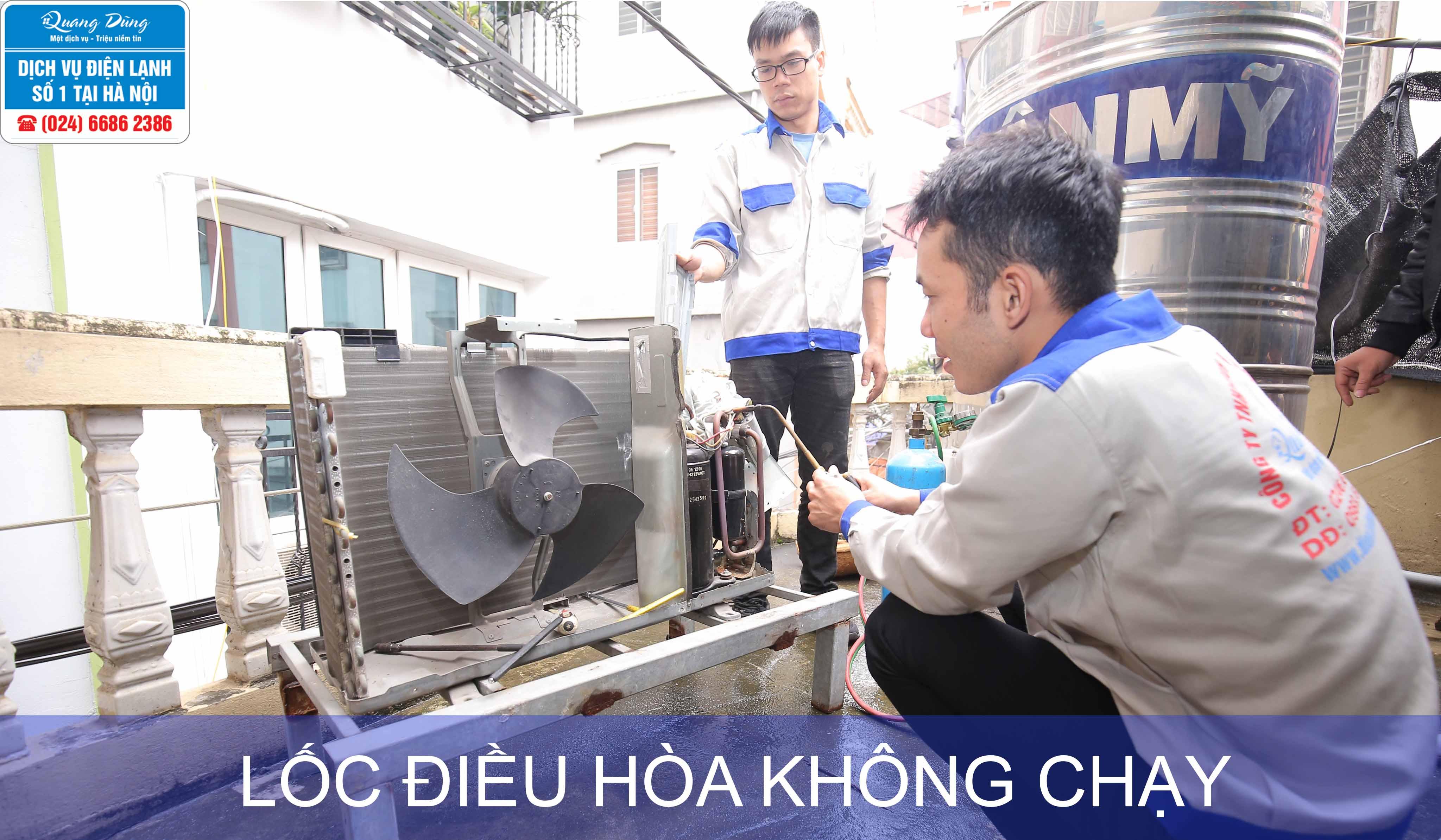loc dieu hoa khong chay