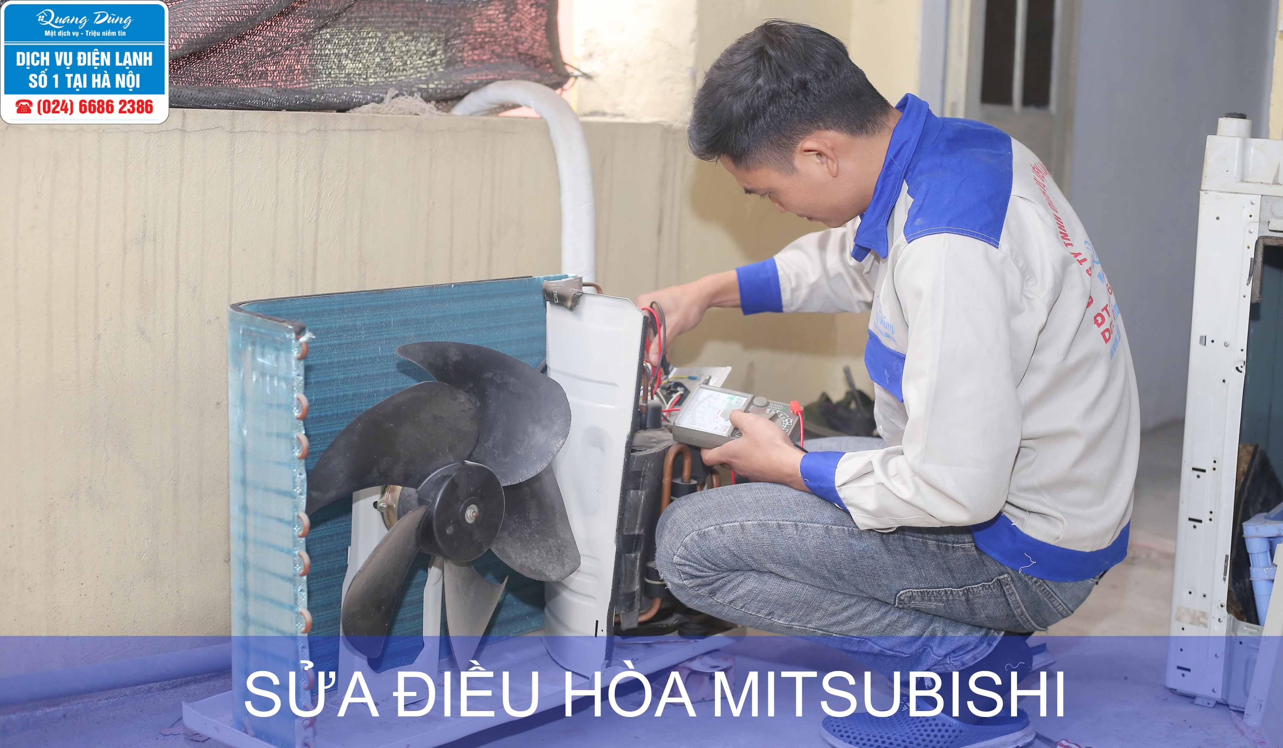 sua dieu hoa mitsubishi
