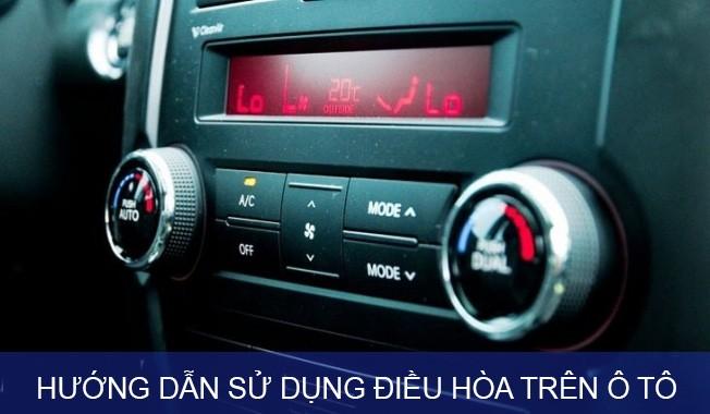 sử dụng điều hòa trên ô tô