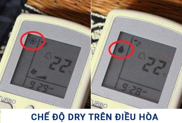 Sử dụng chế độ Dry trên điều hòa