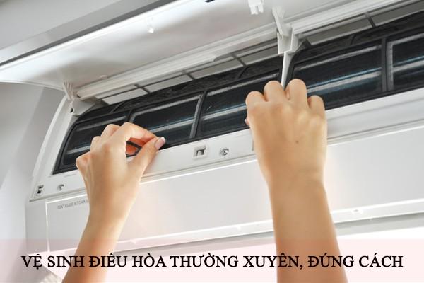 Vệ sinh, bảo dưỡng điều hòa định kì giúp tiết kiệm điện