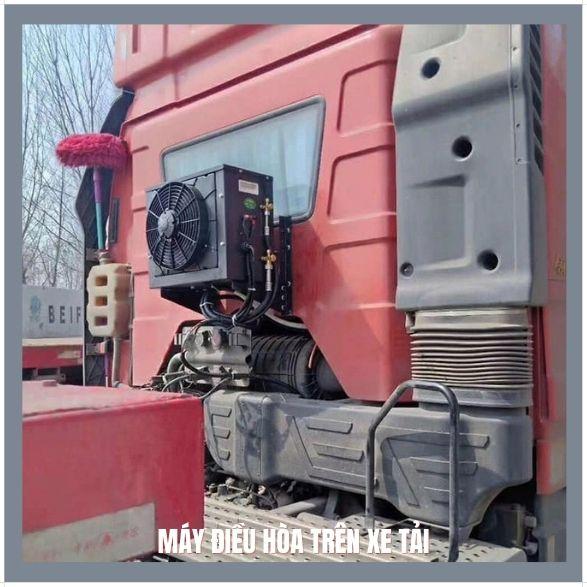 Máy điều hòa dùng điện 12v, 24v trên xe tải