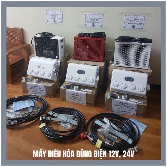 Máy điều hòa dùng điện 12v, 24v